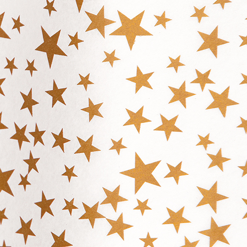 Gold Stars On White Tissue (3 sheets)