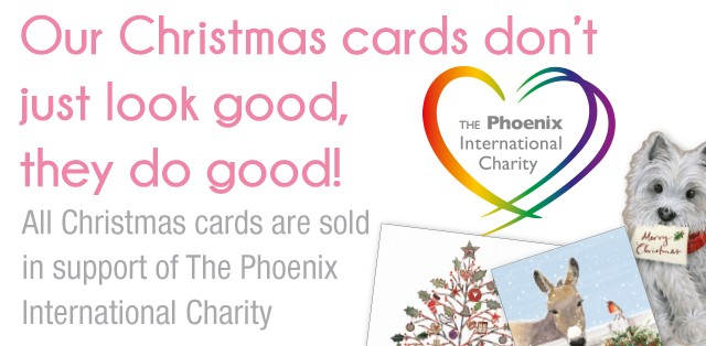 All Christmas cards are sold in support of The Phoenix International Charity