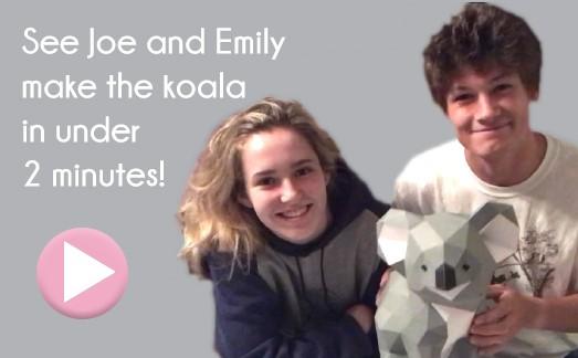 Making a koala in 2 minutes video