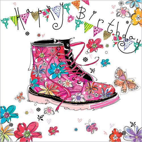 Pink Boot (Happy Birthday)
