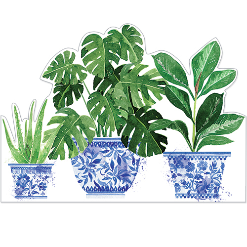 Three Pot Plants