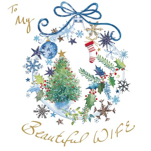 Christmas Bauble (Wife) Single Card