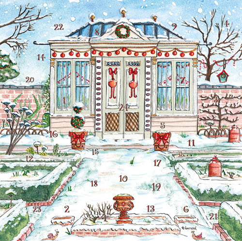 Christmas Garden Advent Calendar Card