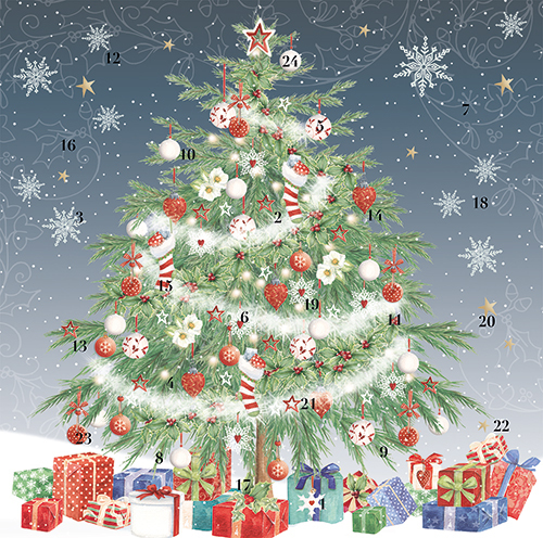 `SOLD OUT`Christmas Tree Advent Cal Card