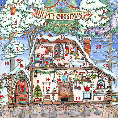 Woodman's House Advent Calendar Card