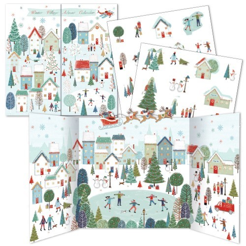 Winter Village Advent Calendar