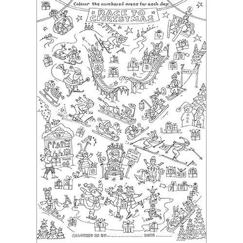 Race To Christmas Colour-in Advent Calen