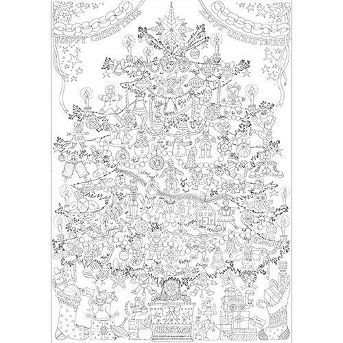 Christmas Tree Colour-in Poster