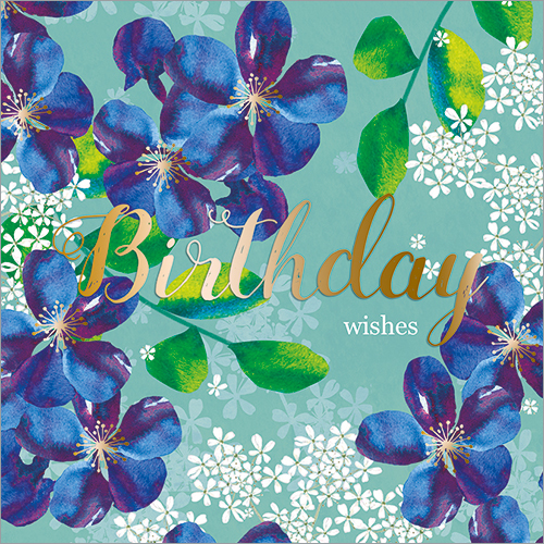 Birthday Wishes (Clematis)