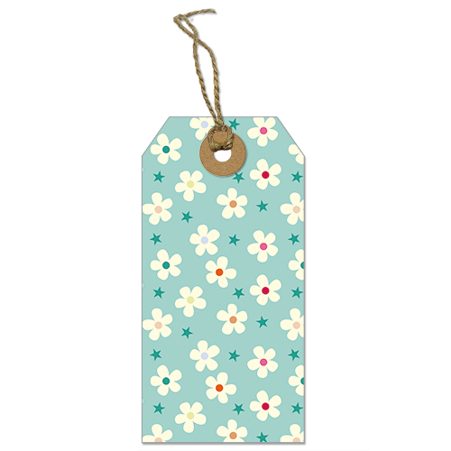 Flowers And Stars (Pack Of 5 Tags)