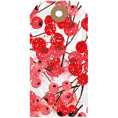 Red Berries Tags (Pack Of 5)