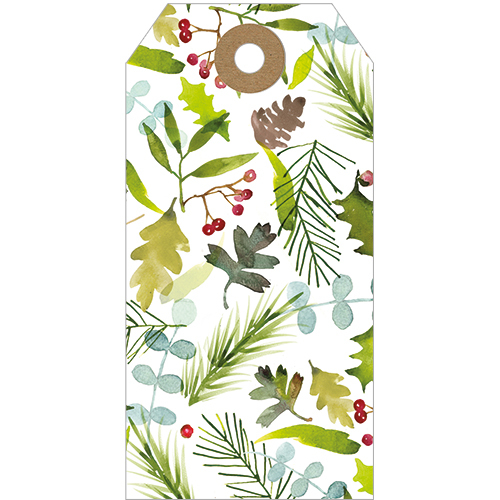 Christmas Foliage Tags (Pack Of 5)