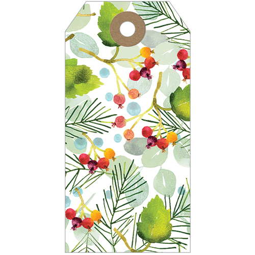 Winter Foliage With Berries Tags(Pk Of 5