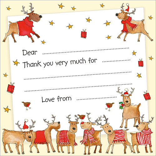 Rudolph And Friends Note Cards