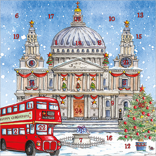 St Paul's Cathedral Adv Calendar Card