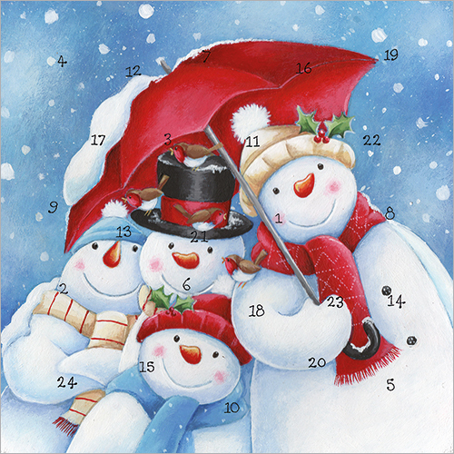 Snowmen Advent Calendar Card