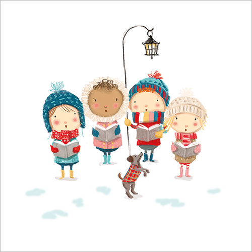 Little Carol Singers (Pack Of 8)