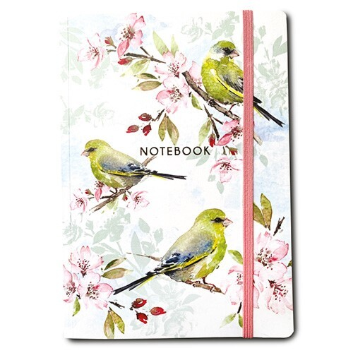 Blossom And Greenfinches Notebook A5