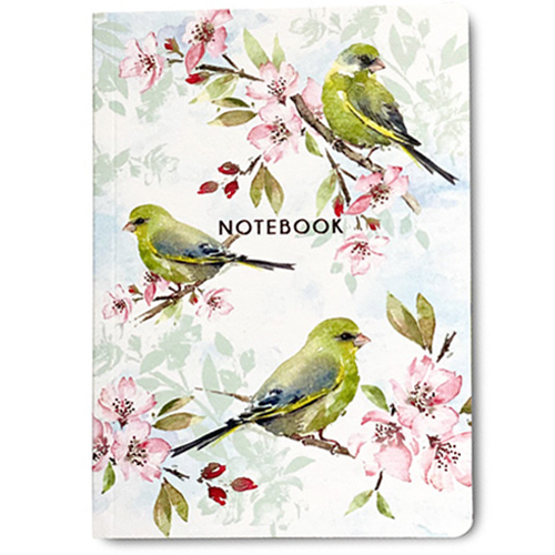 Blossom And Greenfinches Notebook A6