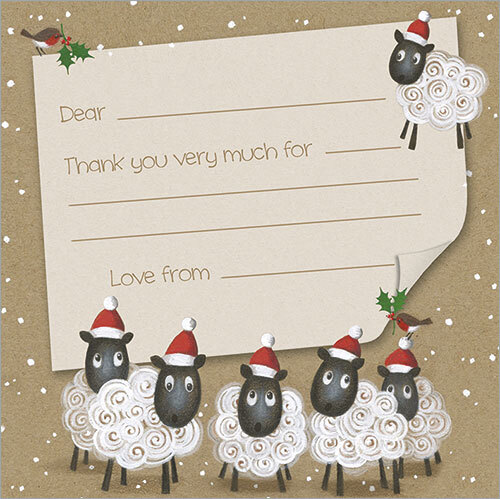 Christmas Sheep (Pack Of 10)