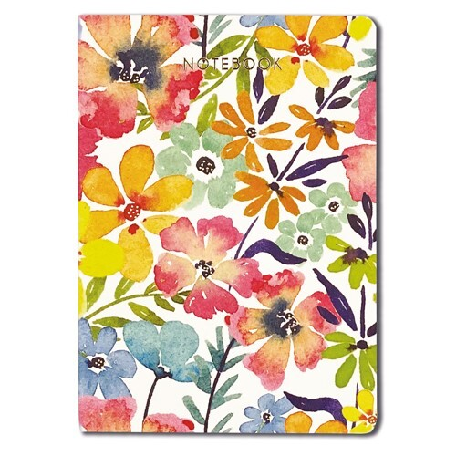 Bright Flowers A6 Notebook